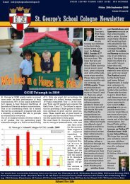 St. George's School Cologne Newsletter - St. Georges School