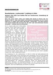"Rosafarbenes ""Laufwunder""-Jubiläum in Köln - Women's Run"