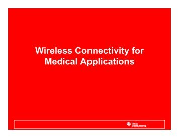 Wireless Connectivity for Medical Applications - Arrow Electronics