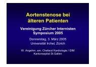 Aortenstenose bei älteren Patienten - Vereinigung Zuercher ...