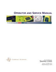 AED G3 Plus Operator and Service Manual - Cardiac Science