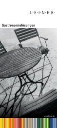 SUNRAIN Für Sonne und Regen GASTRO Frei steh - Leiner GmbH