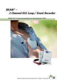 BEAM ® – 2 Channel ECG Loop-/ Event Recorder