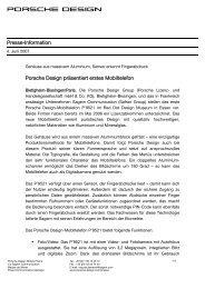 Presse-Information Porsche Design präsentiert erstes Mobiltelefon