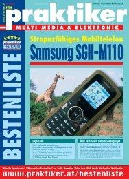 Samsung SGH-M110: Strapazierfähiges Mobiltelefon ... - Praktiker