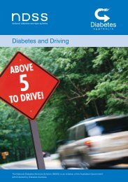 Diabetes and Driving Booklet - NDSS