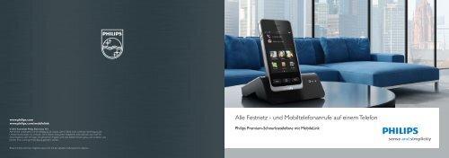 Alle Festnetz - und Mobiltelefonanrufe auf einem Telefon - Philips