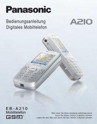 Bedienungsanleitung Digitales Mobiltelefon - Panasonic