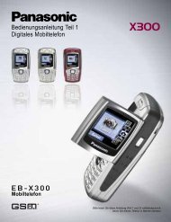 Bedienungsanleitung Teil 1 Digitales Mobiltelefon - Panasonic