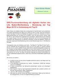 GPS-Tourenvorbereitung mit digitalen Karten des LGL Baden ...