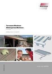 Terrassen-Markisen Wintergarten-Markisen - Finkeisen Sonnenschutz