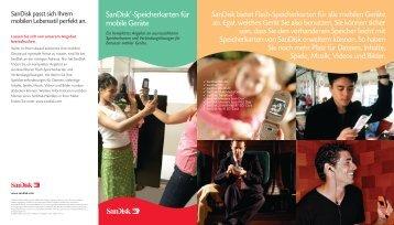 SanDisk®-Speicherkarten für mobile Geräte