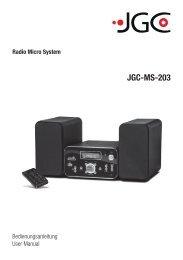 JGC-MS-203 - E2 Fachhandels & Reparatur Servicecenter | Start