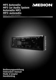 MP3 Autoradio MP3 Car Audio System Autoradio MP3 ... - medion