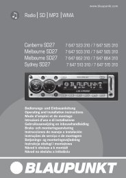 Radio SD MP3 WMA Canberra SD27 Melbourne SD27 ... - Blaupunkt