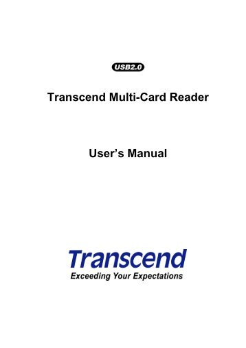 Portable Multi-Card Reader Specifications - Transcend