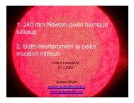 1. 240 mm Newton peilin hionta ja kiillotus 2. Bath ... - anderswallin.net
