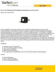 50 x 41 mm 7/370-Sockel CPU-Kühllüfter mit ... - StarTech.com