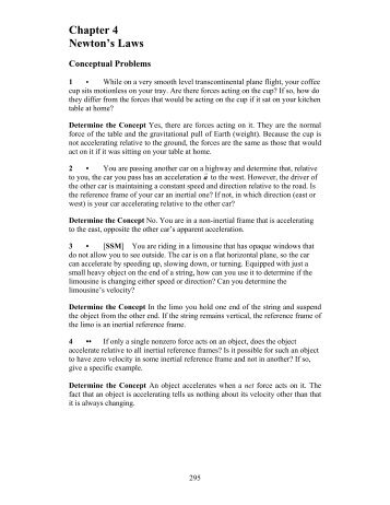 Chapter 4 Newton's Laws
