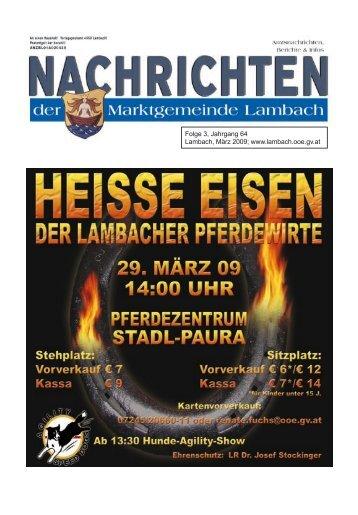Folge 3, Jahrgang 64 Lambach, März 2009 - Lambach - Land ...
