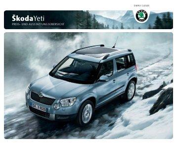 ŠkodaYeti - Auto Motor und Sport
