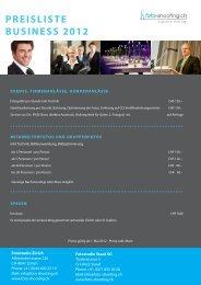 PREISLISTE BUSINESS 2012