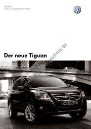 Preisliste VW Tiguan, 2/2008 - mobilverzeichnis.de