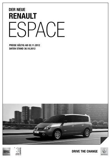 Preise Espace - Renault