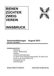 BIENEN ZÜCHTER ZWEIG VEREIN INNSBRUCK - BZZV-Innsbruck