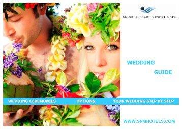 Wedding guide Moorea Pearl Resort & Spa 2012 - SPM Hotel ...