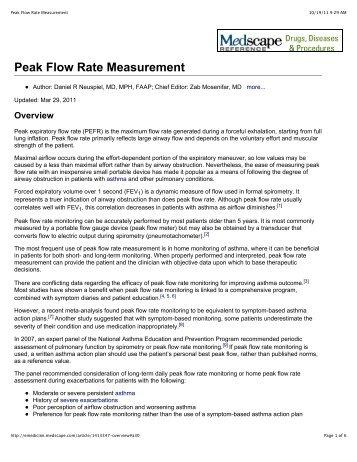 Peak Flow Rate Measurement
