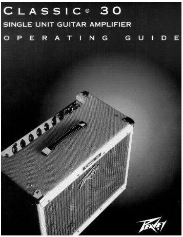classic 30 manual - Peavey