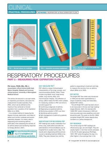 Measuring peak expiratory flow - Nursing Times