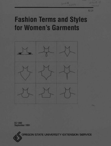 Fashion Terms and Styles for Women's Garments - ScholarsArchive ...