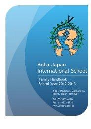 A-JIS _ Handbook-2012-2013-1 - Aoba–Japan International School