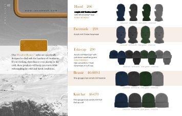 Hood 206 Eski-cap 230 Beanie 46-669-1 Facemask 210 Knit hat 46 ...