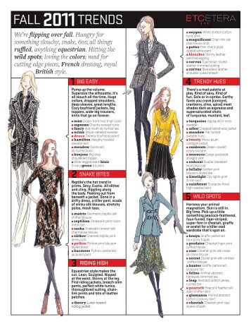 FALL TRENDS - Achievable Fashion