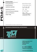 PDA-S Flyer 06-2011.cdr - TEM Messtechnik GmbH - Page 2