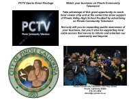 PCTV Sports Event Package Watch your business on Pinole ...