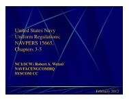 United States Navy Uniform Regulations; NAVPERS 15665 ...