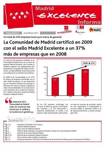 Boletín Marzo / Abril 2010 Madrid Excelente - Club Excelencia en ...