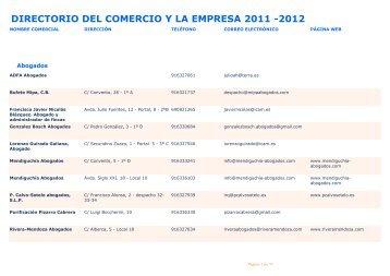 directorio del comercio y la empresa 2011 -2012 - Ayuntamiento de ...