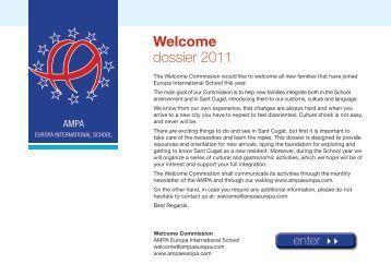 Welcome dossier 2011 - Europa Internacional School