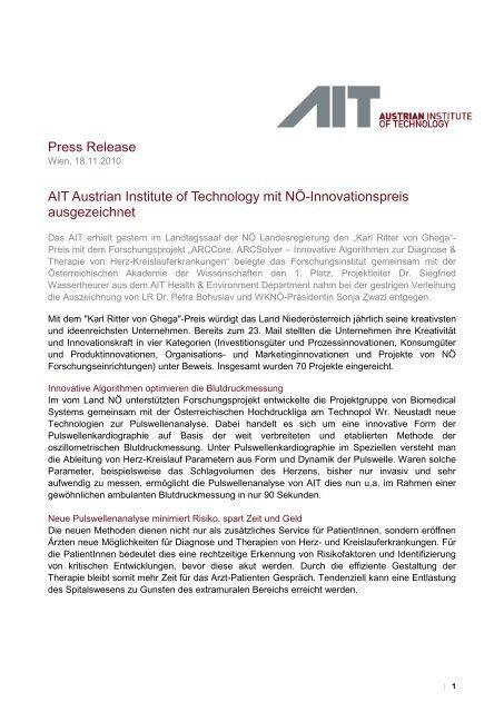 Seibersdorf, 26 - AIT Austrian Institute of Technology