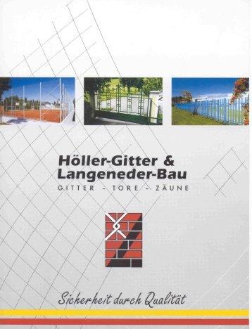 Broschüre Zaunbau - Höller-Gitter & Langeneder Bau GmbH