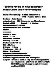 Technos für die M 1800 R Intruder Technos für die M 1800 R ...