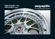 Felgen-Programm (3-teilig) Wheel program (3-piece)