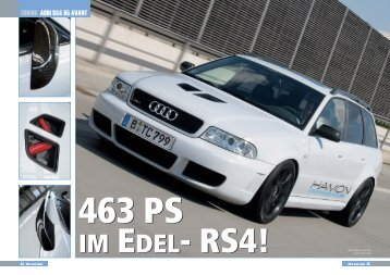 463 PS IM EDEL- RS4!