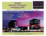 23rd Annual Seminar - The Southern Veterinary Conference