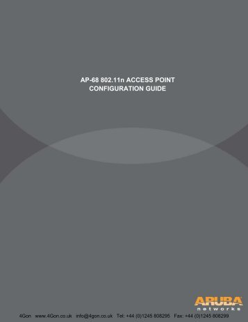 AP-68 802.11n ACCESS POINT CONFIGURATION GUIDE - 4Gon